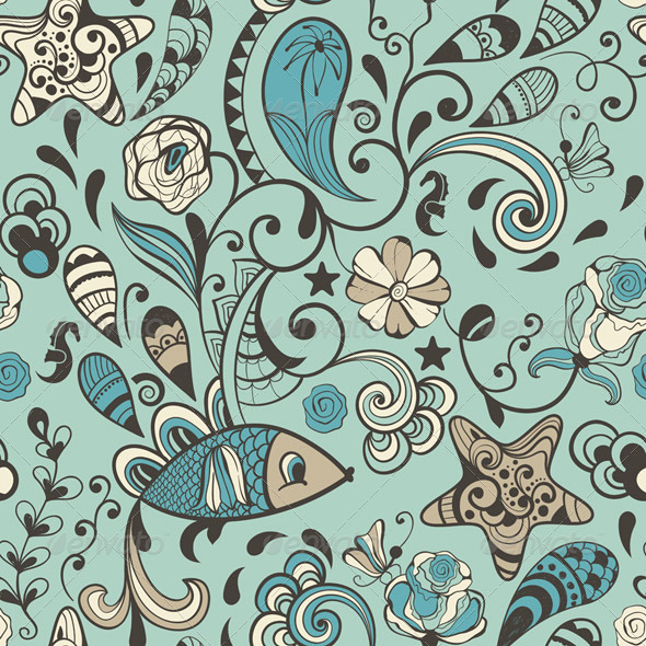 GraphicRiver Vector Seamless Highly Detailed Abstract Pattern 5483266