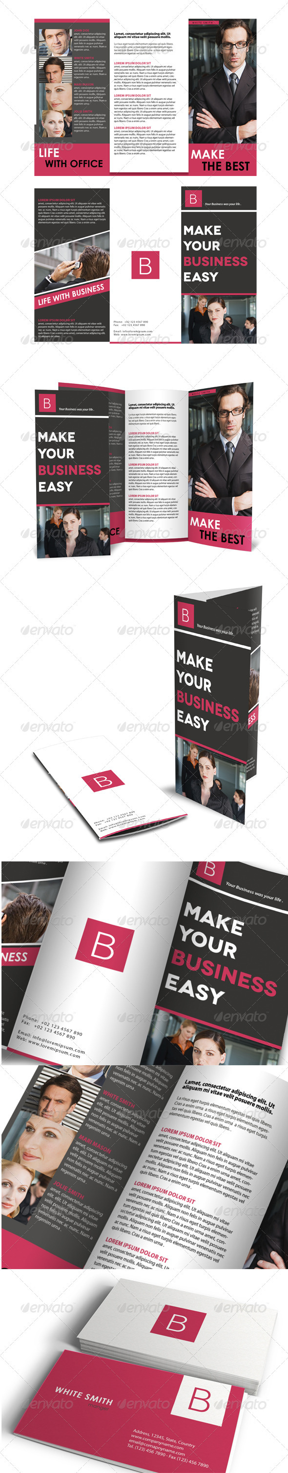 Trifold Brochure + Business Card - Corporate Brochures