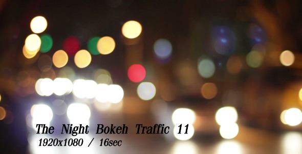 VideoHive The Night Bokeh Traffic 11 5483453