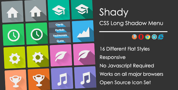 Long Shadow Menu - CodeCanyon Item for Sale