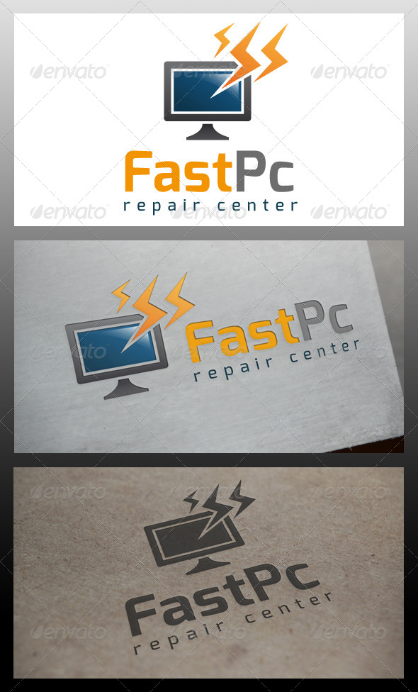 Fast Computer Logo Template