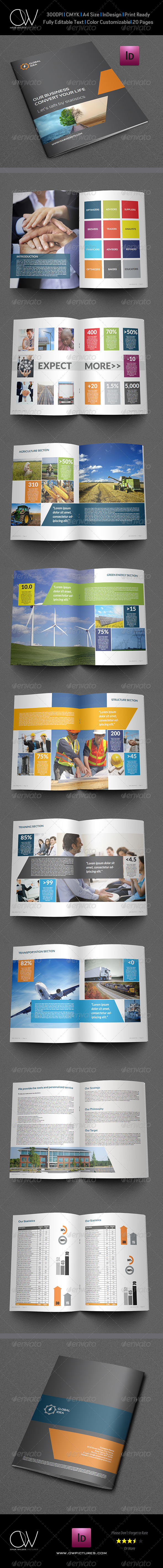 GraphicRiver Corporate Brochure Template Vol.4 20 Pages 5483867