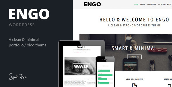 ThemeForest Engo Smart & Minimal Wordpress Theme 5483910