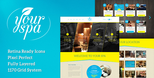 Your Spa - Health/Beauty One Page PSD Template