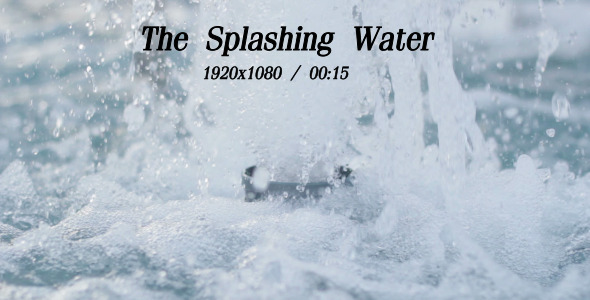 VideoHive The Splashing Water 5483922