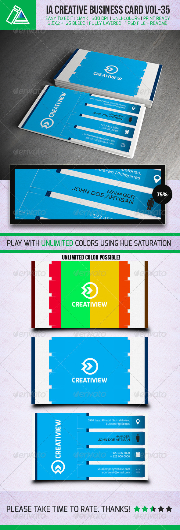 GraphicRiver IntenseArtisan BUSINESS CARD VOL.35 5484038