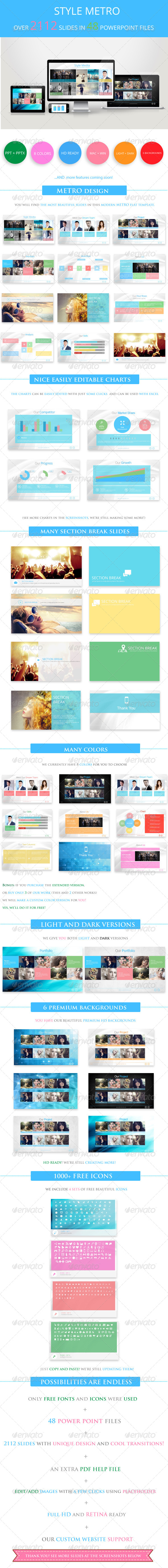 GraphicRiver Style Metro Powerpoint Template 5484618