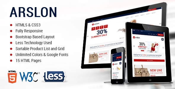 Arslon - Premium E-Commerce Template - Retail Site Templates