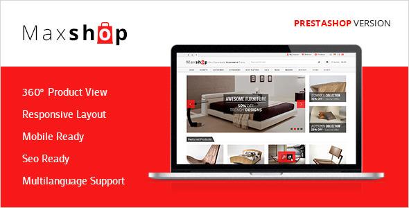 ThemeForest Maxshop Premium Prestashop Shopping Theme 5484416