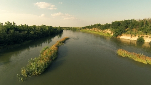 VideoHive Flying Over River 3 5484741
