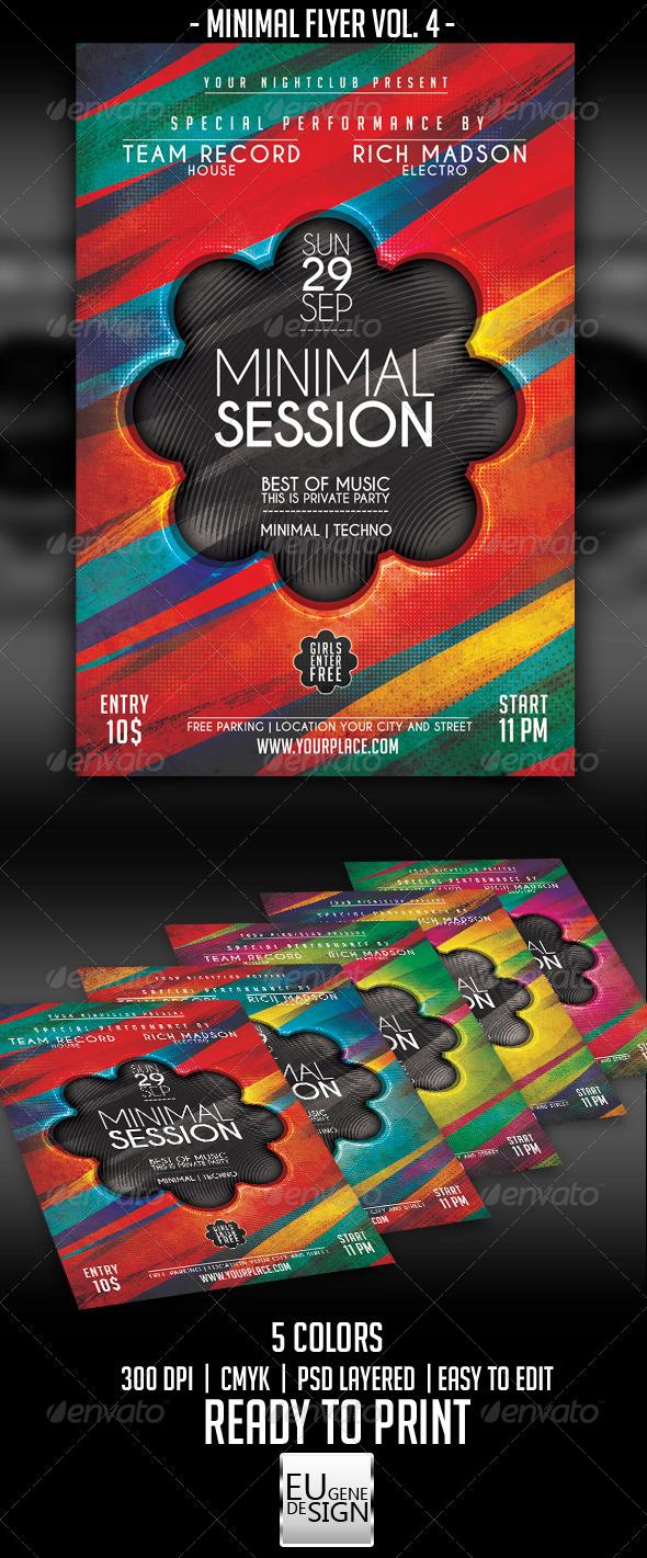 Minimal Flyer Vol. 4 - Clubs & Parties Events
