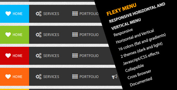 Flexy Menu - Responsive Horizontal & Vertical Menu - CodeCanyon Item for Sale