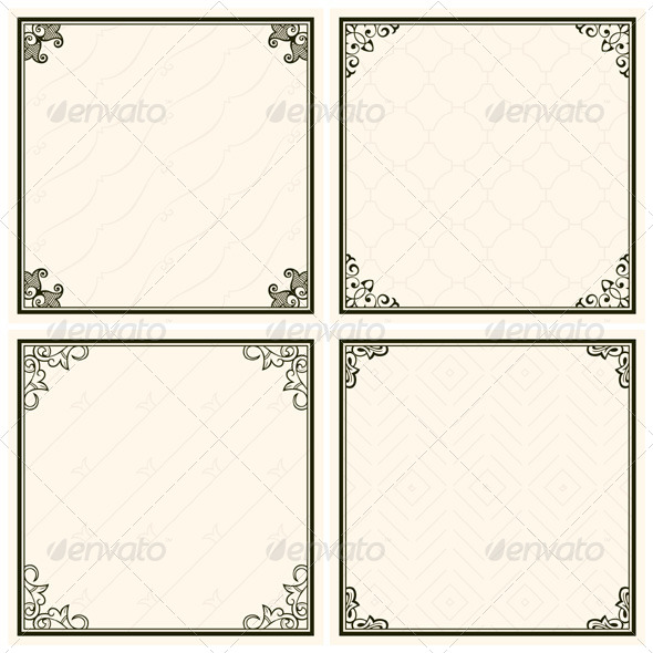 GraphicRiver Decorative Menu Frames 5484949