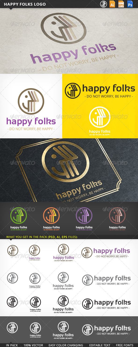 GraphicRiver Happy Folks Logo 5484966