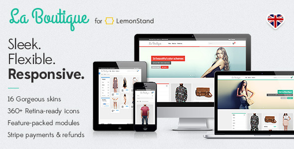ThemeForest La Boutique Responsive LemonStand Theme 5382042