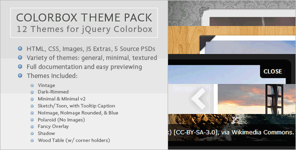 CodeCanyon Colorbox Theme Pack 5485161