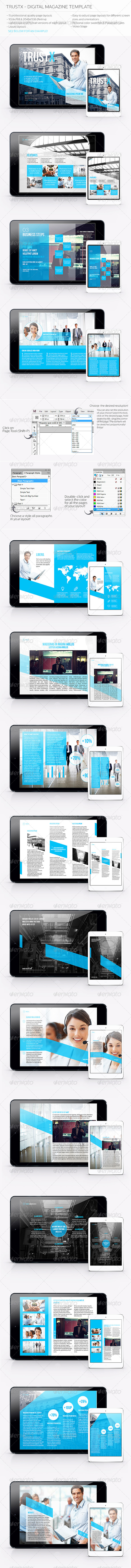 GraphicRiver Trustx Digital Magazine Template 5473781