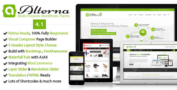 Alterna - Retina Responsive Multi-Purpose WordPress Theme