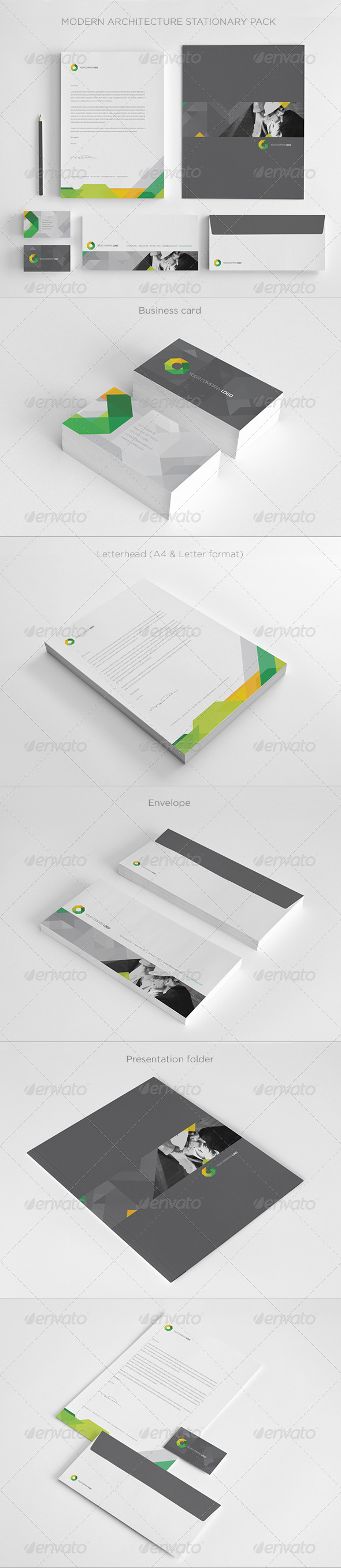 GraphicRiver Modern Architecture Stationary 5485187
