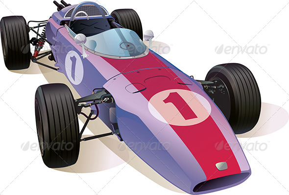 GraphicRiver Classic F1 Racing Car 5485442