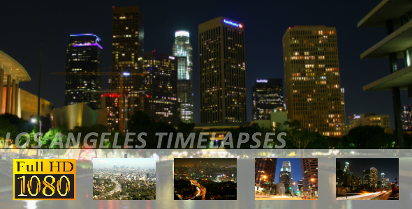 Pack of 5 Time Lapses In Los Angeles