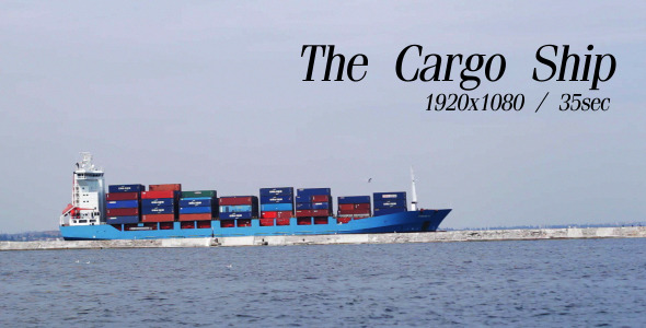VideoHive The Cargo Ship 5485645