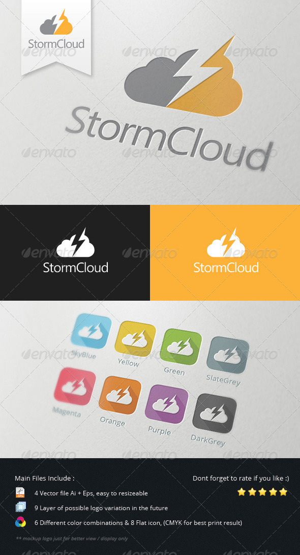 GraphicRiver Storm Cloud Logo 5478706