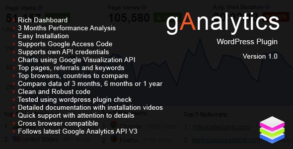 CodeCanyon gAnalytics WordPress Plugin 5456009