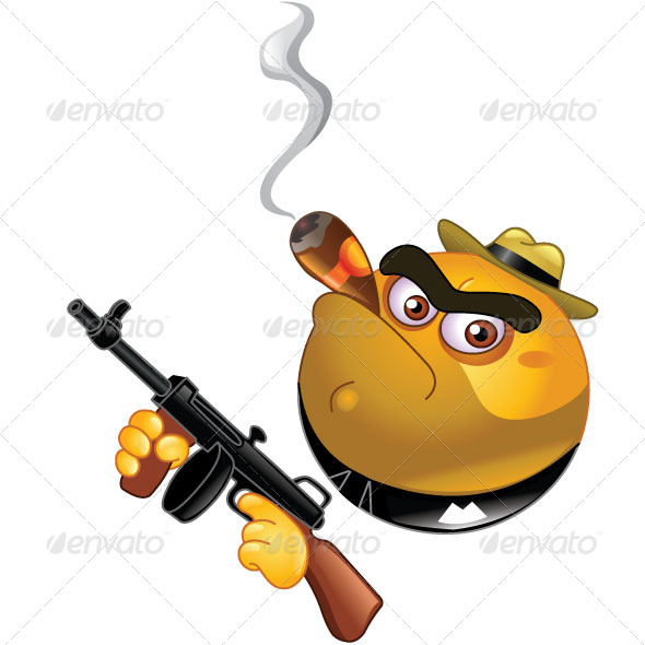 GraphicRiver Gangster Emoticon 5485694