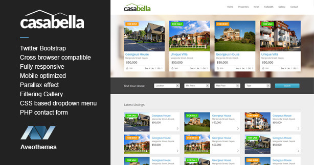 Casabella - Responsive Real Estate Template