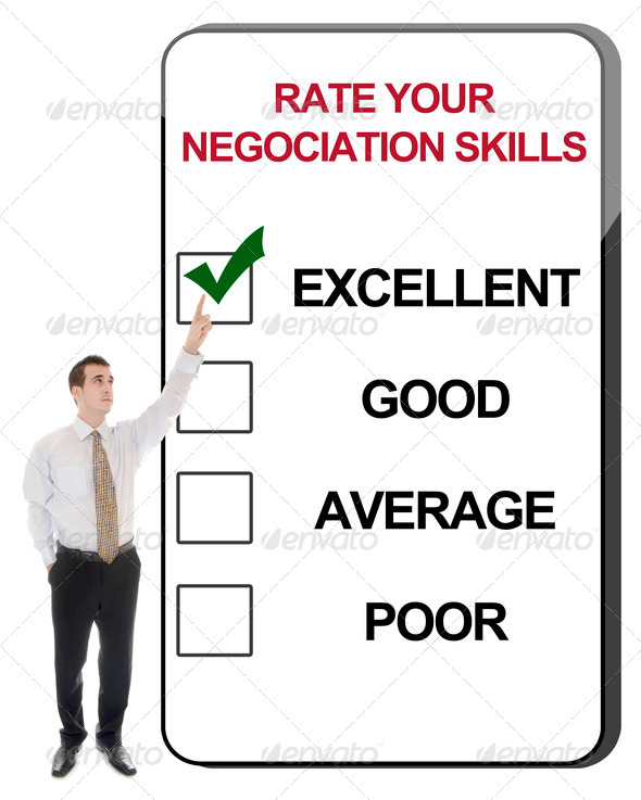 Rate your negociation skills - Stock Photo - Images
