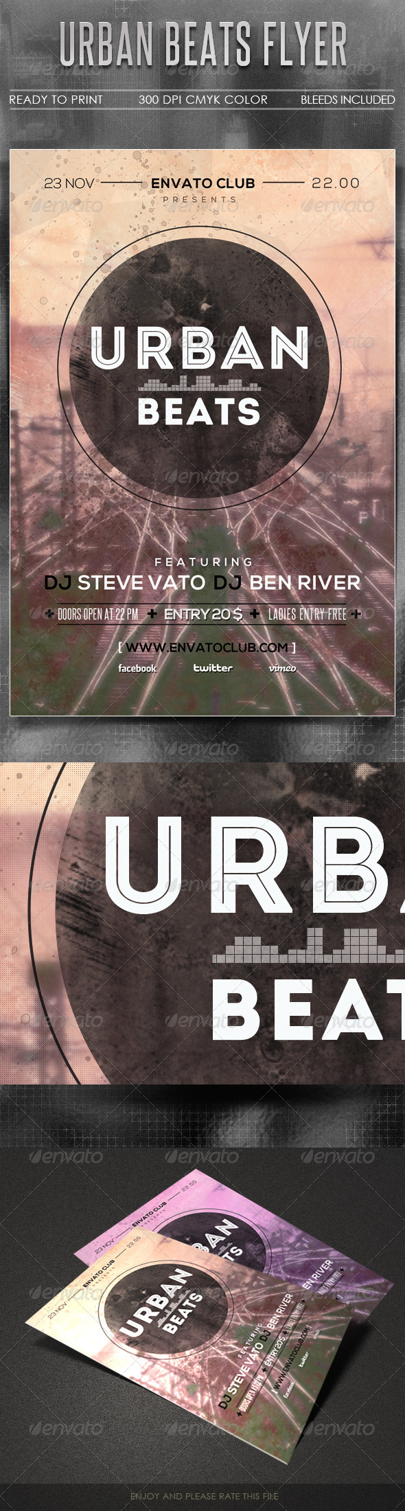 GraphicRiver Urban Beats Flyer 5485855