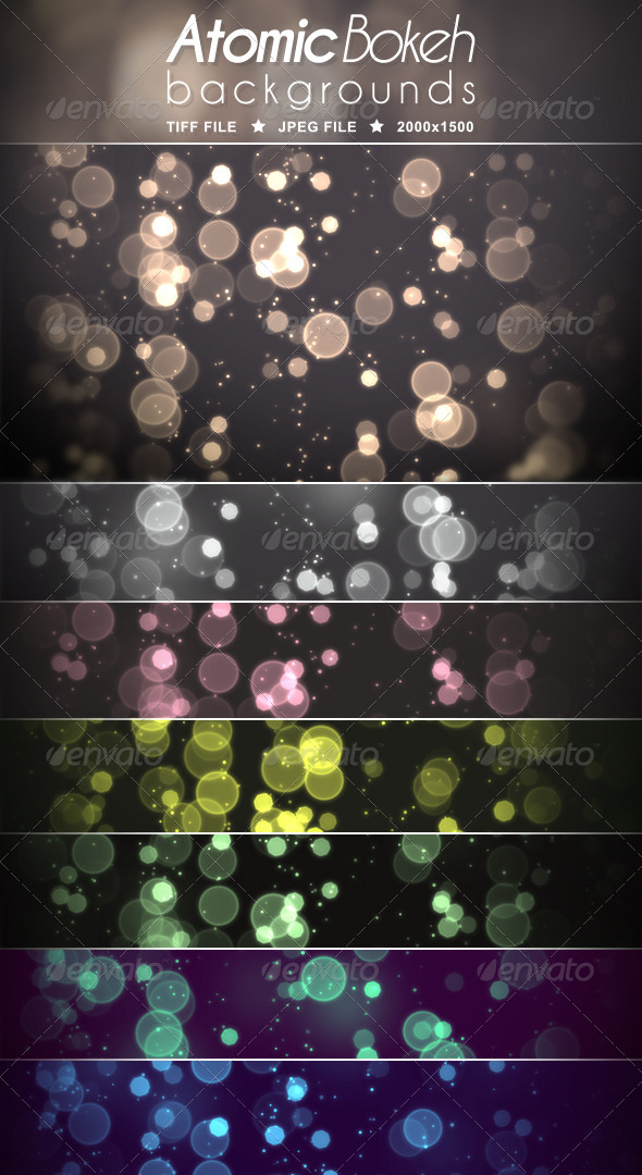 GraphicRiver Atomic Bokeh Backgrounds 5485897
