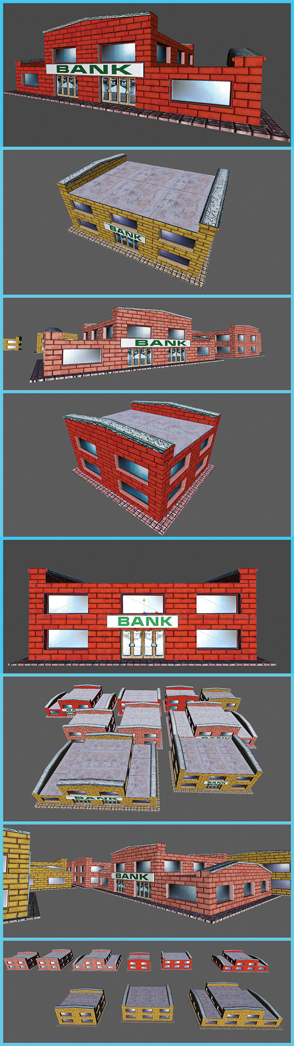 3DOcean Toon Textured Small Bank Building 5486098