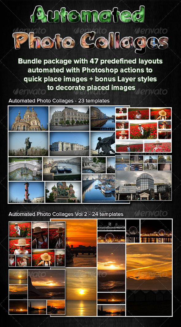 GraphicRiver Automated Photo Collages Bundle 5486717