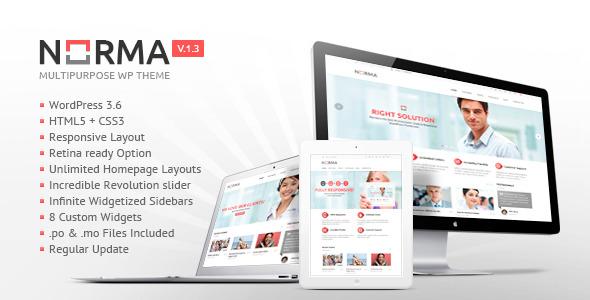 NORMA   Clean & Responsive WordPress Theme
