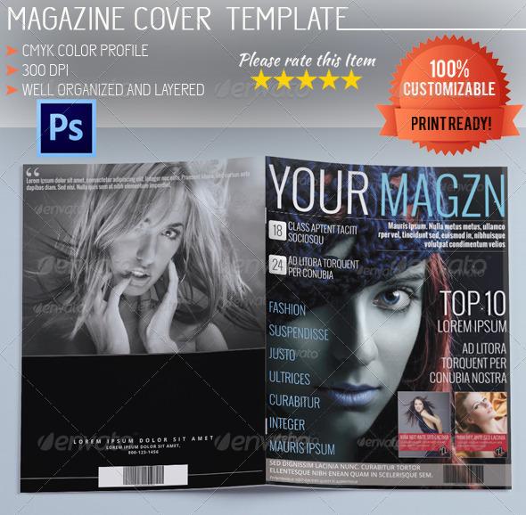 Graphicriver Book Cover Template Vol : Magazine cover template vol graphicriver