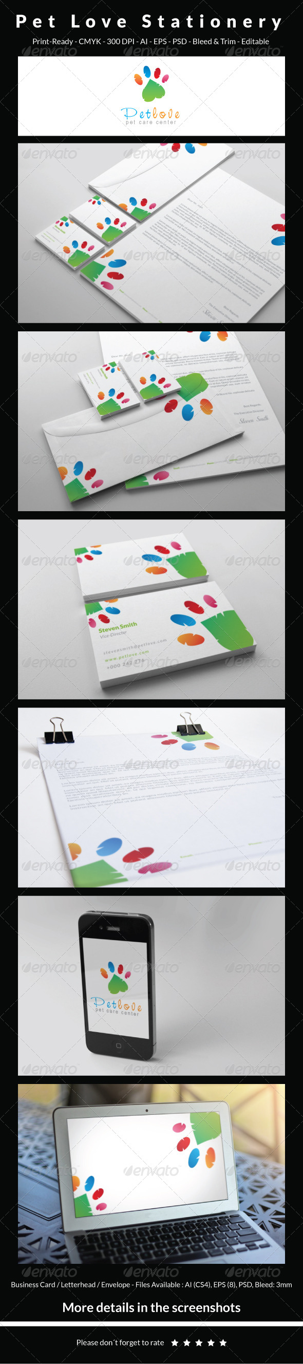 GraphicRiver Pet Love Stationery 5467382