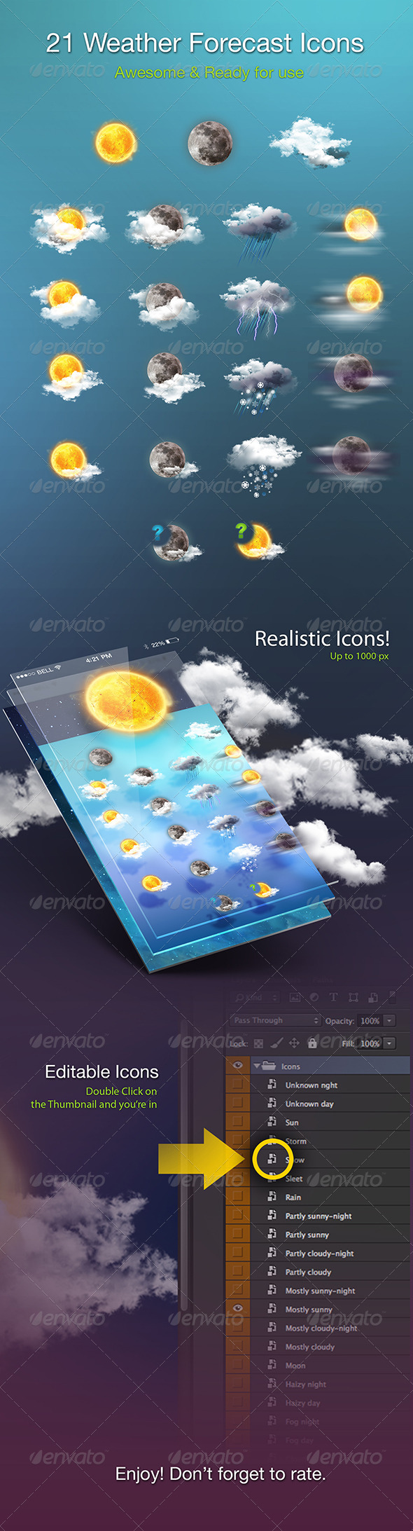 GraphicRiver Weather Forecast Icons 5483491