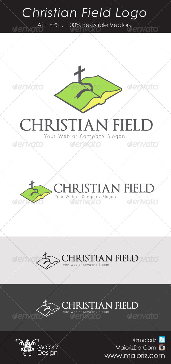 Christian Field Logo - Objects Logo Templates