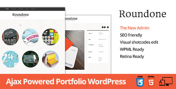 Roundone - Ultimate Portfolio WP Theme