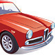 Red Classic Retro Car - GraphicRiver Item for Sale