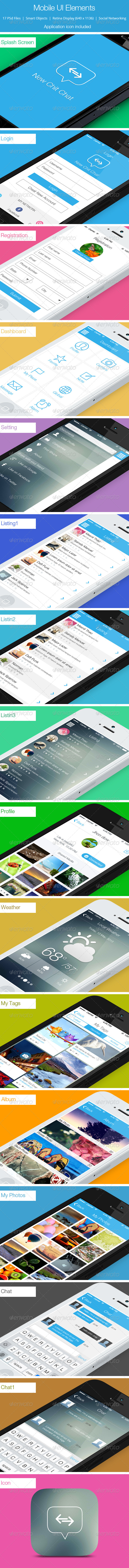 GraphicRiver Mobile UI Elements 5447352