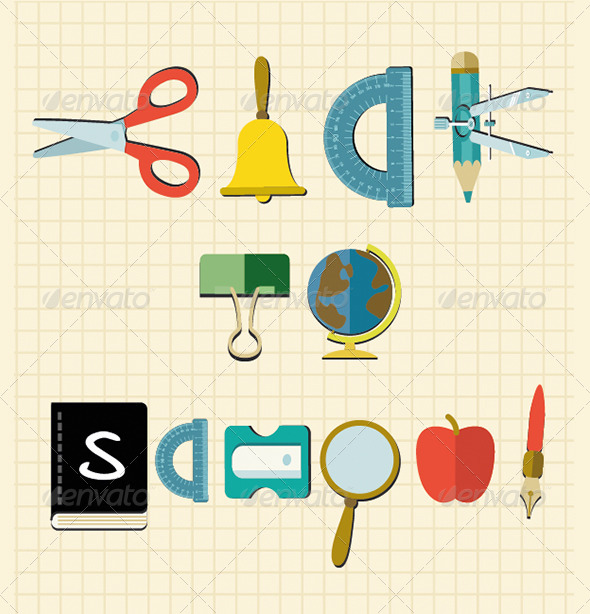 GraphicRiver Back to School Objects 5480805