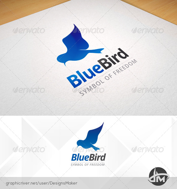 GraphicRiver Blue Bird Logo 5452771