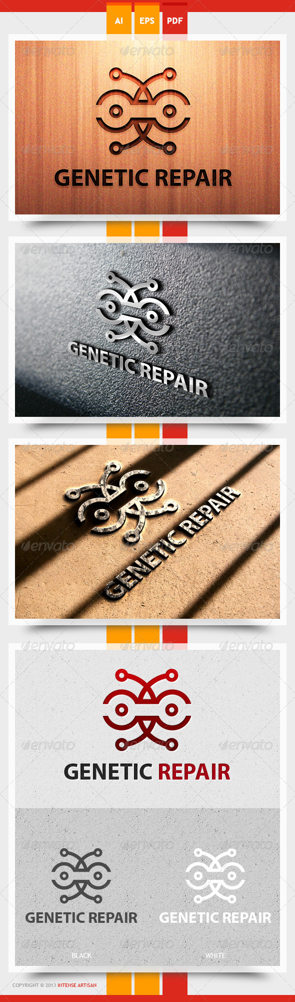 Genetic Repair - Objects Logo Templates