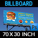 Burger Restaurant Billboard Template Vol.3 - GraphicRiver Item for Sale