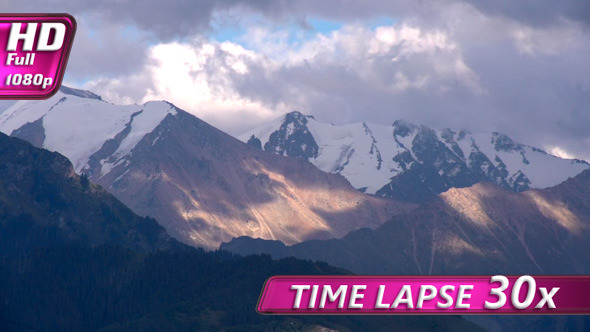 VideoHive Storm Clouds Over the Mountains 5487677