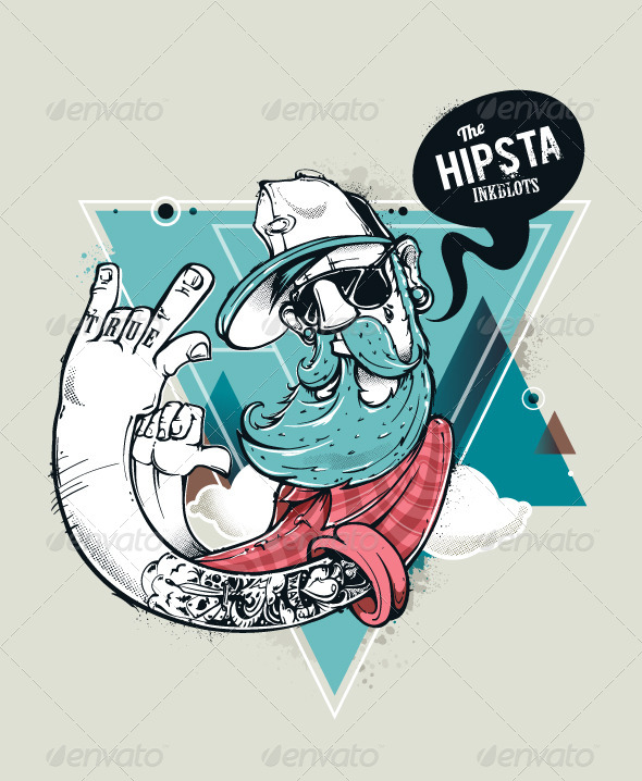 GraphicRiver Hipster Graffiti Character 5487678