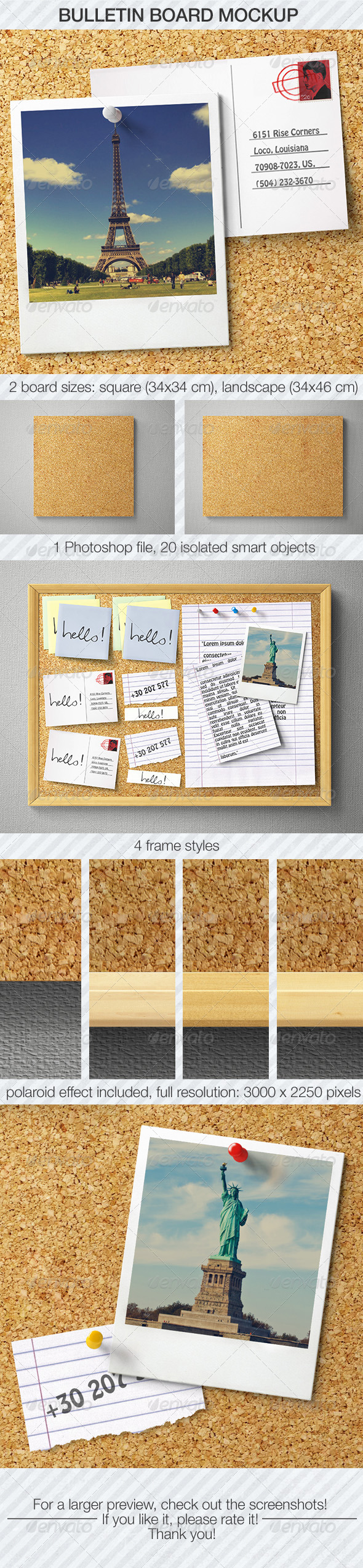 GraphicRiver Bulletin Board Mockup 5486384